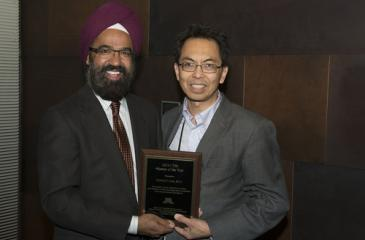 Dr. Kelvin Lim and Award Plaque